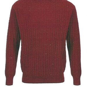 Crew Neck Cable - 100% Lambswool