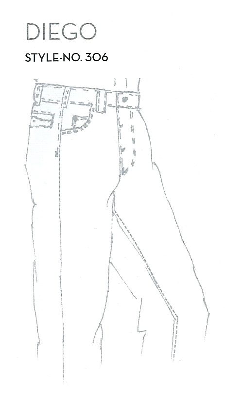 Diego structured jeans 451