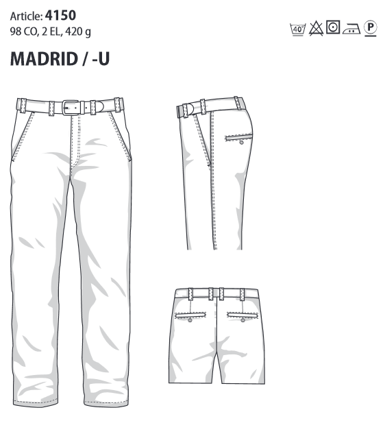 MADRID Comfort Fit 4150 Inch Sizes