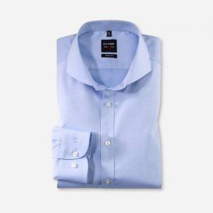 OLYMP Level Five Long Sleeve Fine Twill Cutaway Collar