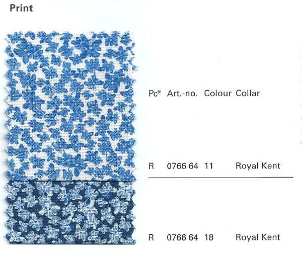 OLYMP Level Five Long Sleeve Print Royal Kent