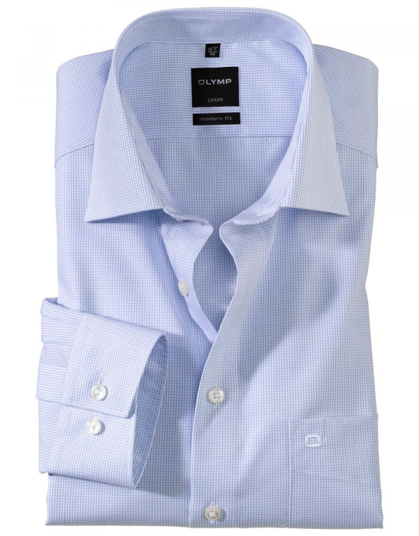OLYMP Luxor modern fit Neat Check New Kent Ex Long Sleeve