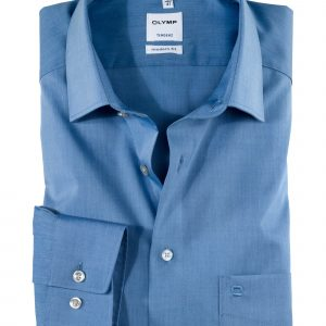 OLYMP Tendenz Long Sleeve Chambray - New Kent Collar