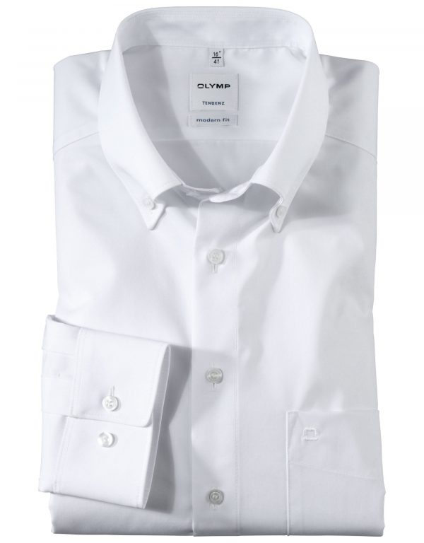 OLYMP Tendenz Long Sleeve Uni - Button-Down Collar